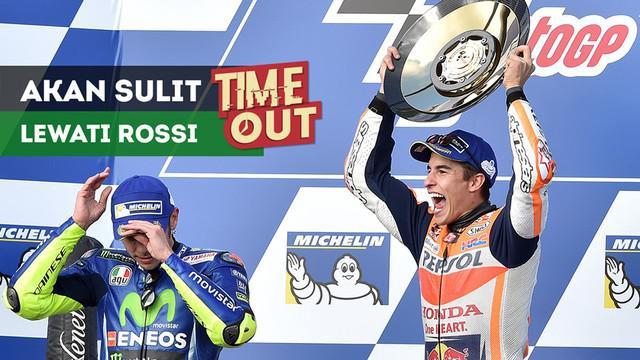 Legenda MotoGP, Kevin Schwantz, pesimistis Marc Marquez bisa melewati pencapaian Valentino Rossi.