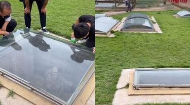 Viral Kuburan Manusia yang Transparan, Penampakan di Dalamnya Bikin Merinding