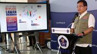 Ketua Tim Pakar Gugus Tugas Nasional Wiku Adisasmito menyampaikan, peluncuran awal sistem informasi Bersatu Lawan COVID di Graha BNPB, Jakarta, Senin (27/4/2020). (Dok Badan Nasional Penanggulangan Bencana/BNPB)