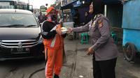 Polwan di Bogor memperingati Hari Kartini (Liputan6.com/ Achmad Sudarno)