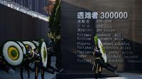 Monumen Peringatan teragedi pembantaian Nanjing di China. (AFP Photo/Johannes Eisele)