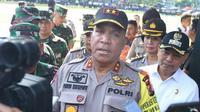 Meski membentuk tim khusus, Kapolda Sumut Irjen Paulus Waterpauw yakin jika tidak ada komersialisasi aset negara dalam kasus pengantin turun dari helikopter milik polisi itu. (Liputan6.com/Reza Efendi)