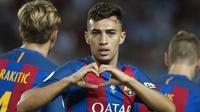 3. Munir El Hadidi, Tottenham berusaha untuk mendatangkan penyerang Barcelona ini ke London. Menurut Daily Mail, Barca akan memasukan klausul pembelian kembali dalam surat perjanjian transfer pemain binaan La Masia itu. (AFP/Jorge Guerrero)