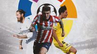 La Liga - Sergio Ramos, Kieran Trippier, Pau Torres (Bola.com/Adreanus Titus)