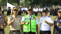 Selama musim mudik Lebaran 2019, Bandara Internasional Soekarno Hatta dijaga sekitar 650 petugas polisi. (Foto: Liputan6.com/Pramita T)