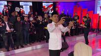 Capres nomor urut 01 Jokowi saat mengikuti debat perdana Pilpres 2019. (foto: dok Ipang Wahid)