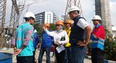 Plt Direktur Utama PLN Sripeni Inten Cahyani melakukan sidak memastikan pasokan listrik saat pelantikan Jokowi-Ma'ruf Amin di  UPB (Unit Pengatur Beban) Cawang, Jakarta, Minggu (20/10/2019).  Persiapan dilakukan demi lancarnya pasokan listrik pelantikan Presiden dan Wapres siang ini. (Dok. PLN)