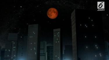 Gerhana bulan total akan menyapa Amerika, Asia, Pasifik dan Australia.