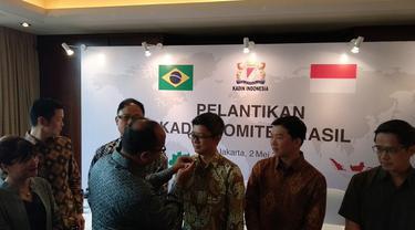 Kamar Dagang dan Industri Indonesia (Kadin) meresmikan Komite Brazil. (Liputan6.com/Maulandy)