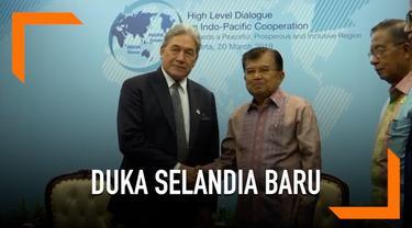 Wakil Presiden Jusuf Kalla menerima kunjungan Menteri Luar Negeri Selandia Baru Winston Peters.
