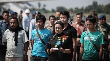 4 WNI tiba di Lanud Halim Perdanakusuma