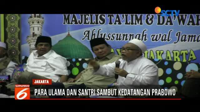 Kehadiran Prabowo merupakan undangan dari KH Ahmad Saidi dari pimpinan pondok Pesantren At Tauhidiyah.
