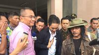 Sudjiwo Tedjo menghadiri sidang putusan sela kasus Dahlan Iskan. (Liputan6.com/Dian Kurniawan)