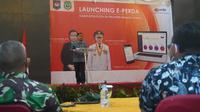 Launching e-Perda bagi kabupaten/kota se-Provinsi Maluku Utara.