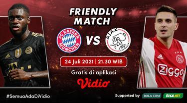Link Live Streaming Pertandingan Pramusim Bayern Munchen vs Ajax Malam Ini Eksklusif di Vidio