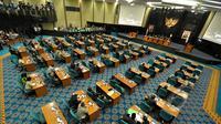 Sidang paripurna di Gedung DPRD DKI Jakarta (Liputan6.com/Faizal Fanani)
