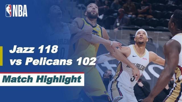 Berita video highlights NBA 2020/2021 antara Utah Jazz melawan New Orleans Pelicans yang berakhir dengan skor 118-102, Rabu (20/1/2021) siang hari WIB.
