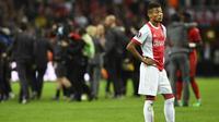 Gelandang Ajax Amsterdam, David Neres, mencatat 10 assist di Eredivisie pada musim ini. (AFP/Jonathan Nackstrand)