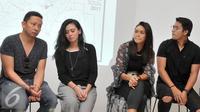 Para bintang film Satu Hari Nanti; Ringgo Agus Rahman, Ayushita, Adinia Wirasti dan Deva Mahenra. (Foto: Herman Zakharia/Liputan6.com)