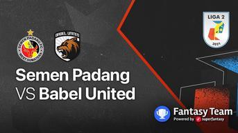 Siaran Langsung Liga 2, 20 Oktober 2021: Semen Padang vs Babel United Mulai 18.15 WIB di Vidio