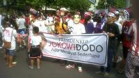 relawan Jokowi di Car Free Day