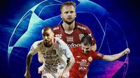 Liga 1 - Bintang Liga 1 yang pernah bermain di Liga Champions (Bola.com/Adreanus Titus)
