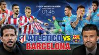 Atletico Madrid vs Barcelona (Liputan6.com/Trie yas)