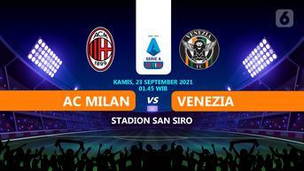 Sedang Berlangsung, Link Live Streaming Liga Italia AC Milan vs Venezia di Vidio