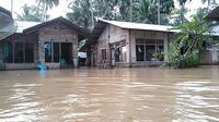 Salah satu titik banjir di Kabupaten Solok. (Liputan6.com/ Novia Harlina/ ist)