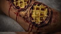 Makeup artist asal Boston, Amerika Serikat, membuat ilusi makanan di atas kulitnya yang mengerikan (Dok.Instagram/@kalypsoh/https://www.instagram.com/p/B4-pFC2nj2j/Komarudin)