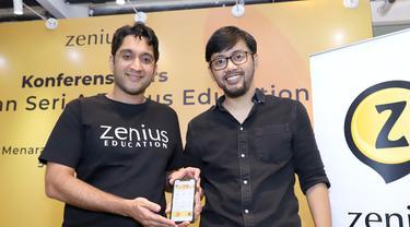 Chief Executive Officer Zenius, Rohan Monga (kiri) dan Chief Education Officer Zenius, Sabda PS (kanan)