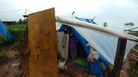 Tenda warga yang mengungsi di perkebunan teh milik PT Nirmala di Desa Malasari, Kecamatan Nanggung, Kabupaten Bogor, Jawa Barat. Sebelumnya, mereka juga menjadi korban gempa Banten pada 23 Januari lalu. (Liputan6.com/Achmad Sudarno)