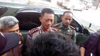 Kapolres Garut AKBP Budi Satria Wiguna dan Dandim Garit Letkol Asyraf Aziz (Liputan6.com/Jayadi Supriadin)