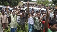 Komunitas Muslim dan Hindu Bengali menghadapi intimidasi di negara bagian Assam di India (AP Photo)