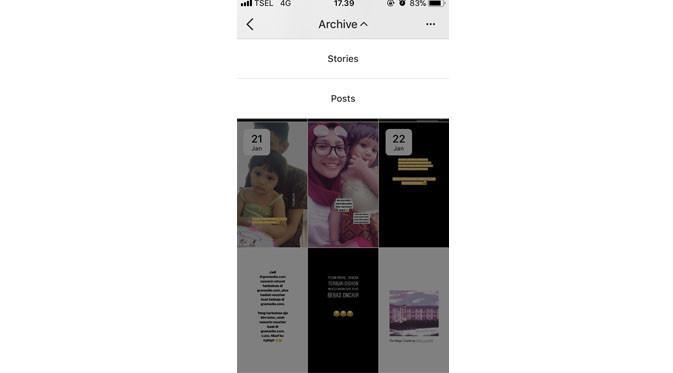 Fitur Archive di Instagram (Foto: Ist)