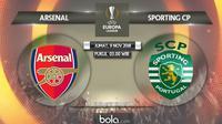 Liga Europa 2018 Arsenal Vs Sporting CP (Bola.com/Adreanus Titus)