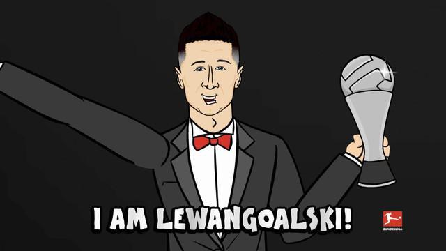 Berita video animasi kocak dari 442oons tentang Robert Lewandowski, bintang Bayern Munchen yang baru meraih gelar Pemain Terbaik FIFA 2020.