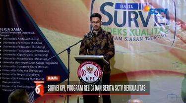 KPI menggelar acara survei indeks kualitas program siaran televisi berkualitas di salah satu hotel di Jakarta Pusat.