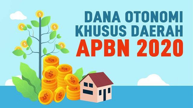 Pemerintah alokasikan Dana Otonomi Khusus untuk Papua dan Aceh, serta Dana Keistimewaan Daerah Istimewa Yogyakarta (DIY) .