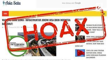 Bank Dunia dikabarkan memberikan sorotan dan kritik pada pembangunan infrastruktur pada masa pemerintahan Presiden Joko Widodo.