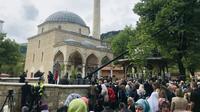 Pembukaan kembali Masjid Aladza di Foca, Bosnia, pada Sabtu 4 Mei 2019 (AFP Photo/BRIN)
