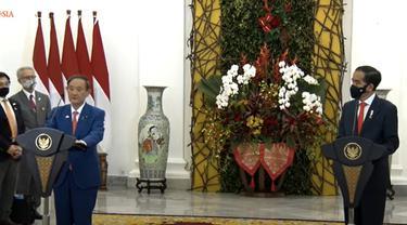 Kunjungan PM Jepang Yoshihide Suga ke Indonesia. (Screen Grab Siaran Sekretariat Presiden)