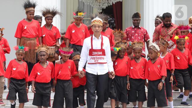Penuhi Janji, Jokowi Undang Anak-Anak SD Papua ke Istana