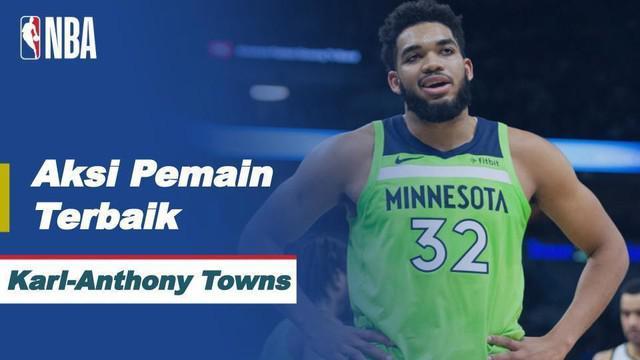 Berita Video Aksi-Aksi Terbaik dari Karl-Anthony Towns Saat Minnesota Timberwolves Kalahkan Sacramento Kings