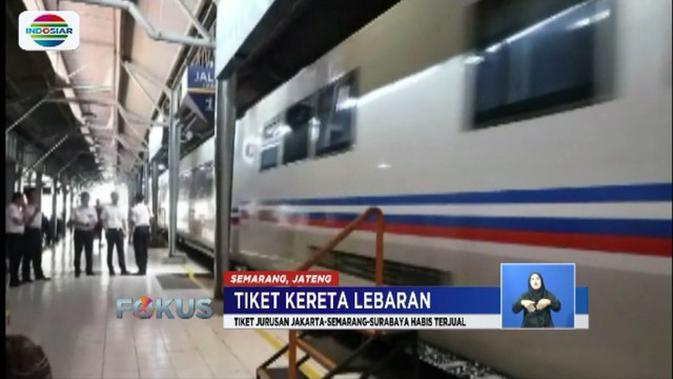 Tiket Kereta Api Jakarta Semarang Untuk Lebaran Sudah Habis Terjual