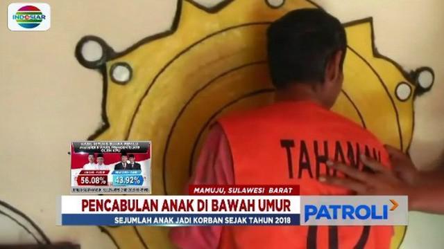 Seorang pria berusia 49 tahun di Mamuju cabuli sejumlah anak sejak tahun 2018. Saat ini, baru para orang tua dari lima korban yang melapor ke polisi.