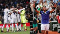 Real Madrid dan petenis asal Spanyol, Rafael Nadal. (Marca).