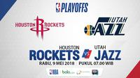 Playoff 2018 Houston Rockets Vs Utah Jazz Game 5 (Bola.com/Adreanus Titus)
