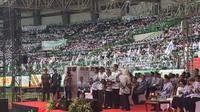 Presiden Jokowi hadiri Hari Guru Nasional dan HUT PGRI di Bekasi. (Liputan6.com/Lizsa Egehem)