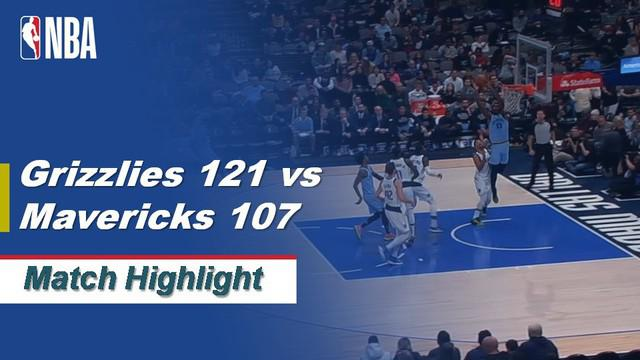 Berita Video Highlights NBA 2019-2020, Memphis Grizzlies Vs Dallas Mavericks 121-107